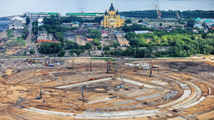 Nizhny Novgorod Stadium under construction for 2018 FIFA World Cup